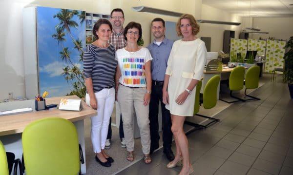 Das WIEWEL Team im Reisebüro